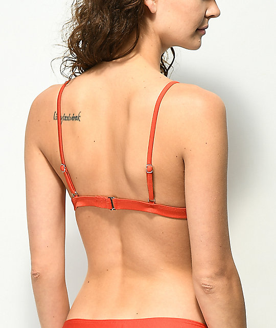 Damsel Shimmer Red Triangle Bikini Top