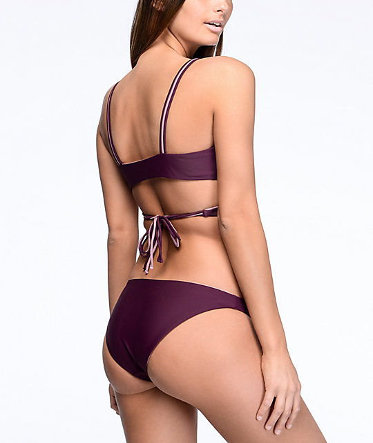 Damsel Wine & Musk Cheeky Reversible Bikini Bottom