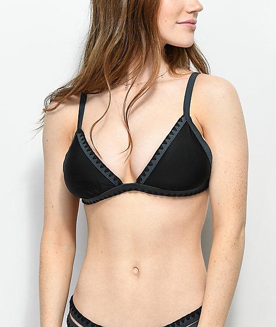 Bikini Bordes Top De Negro Punto Damsel Con ChBQdxtsr