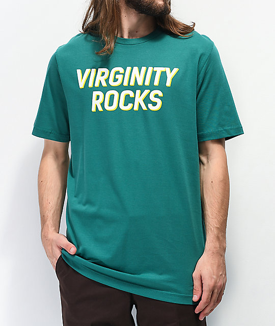 Danny Duncan Virginity Rocks Teal & White T-Shirt