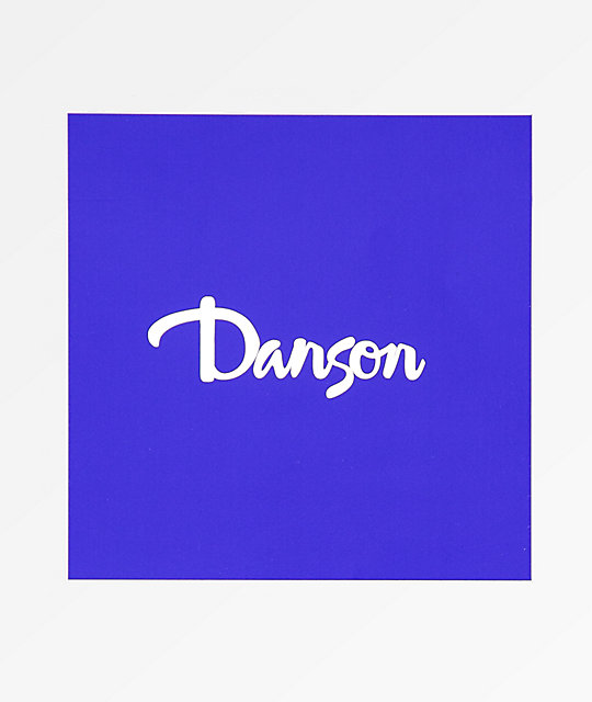 Danson Script Blue and White Stickers