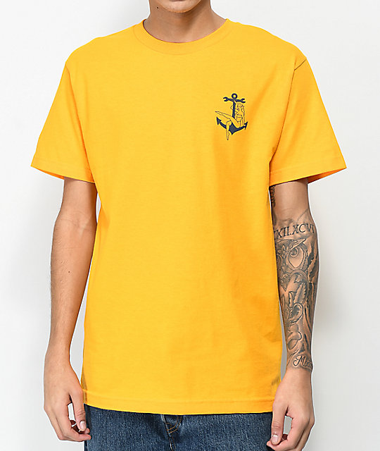 Dark Seas Bon Voyage Gold & Navy T-Shirt