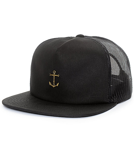 3cb33618969 Dark Seas Bottomry Black Mesh Snapback Hat