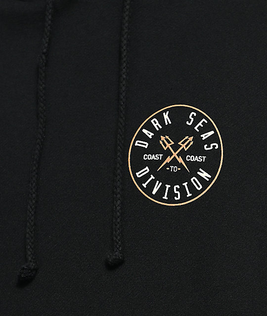 Dark Seas Coastal Guard Black Hoodie