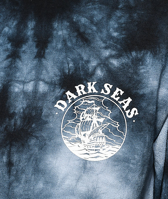 Dark Seas Cold Current Black Crystal Long Sleeve T-Shirt