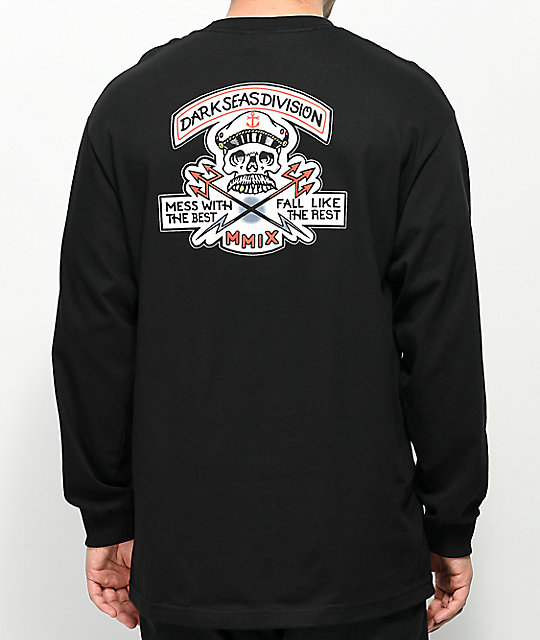 Dark Seas Cut Above Black Long Sleeve T-Shirt