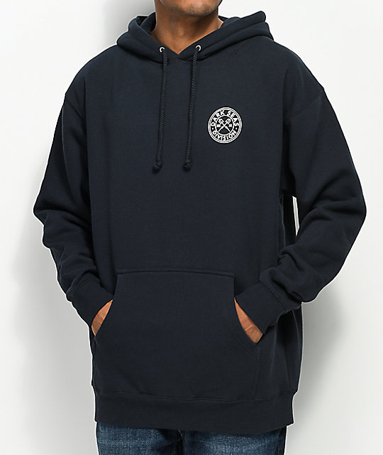 ... Dark Seas Cut Above Navy Hoodie ...