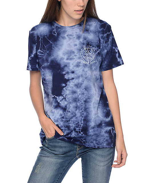 Dark Seas Forbidden Navy Tie Dye T-Shirt