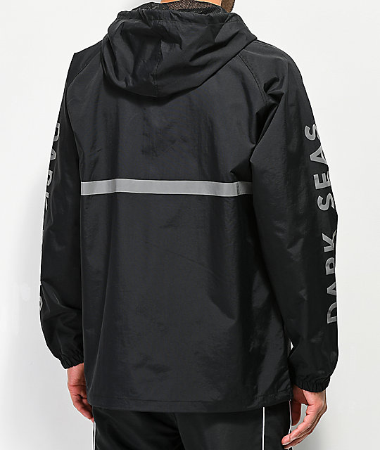 Dark Seas Foul Weather Reflective Black Anorak Jacket