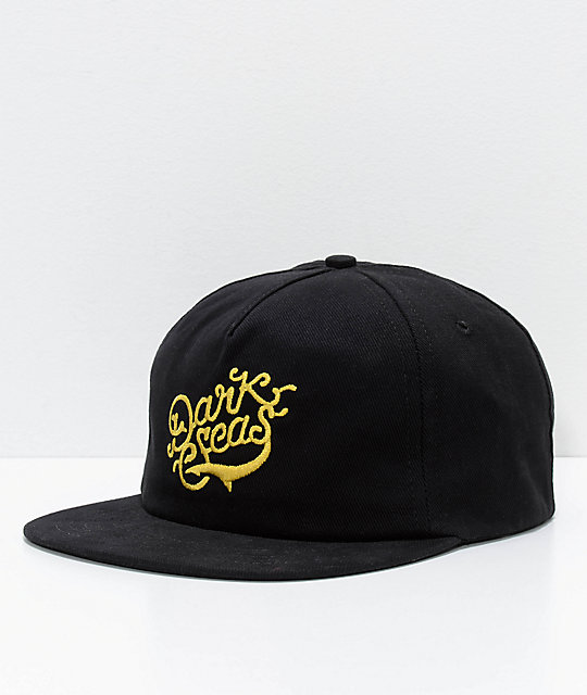 Dark Seas Frigate Black Snapback Hat