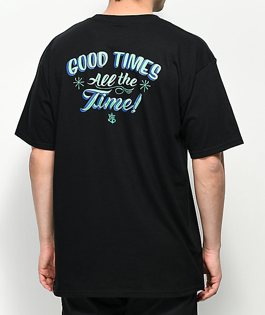 Dark Seas Good Times Black T-Shirt