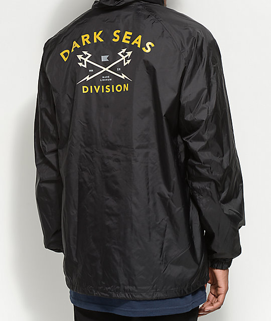 Dark Seas Headmaster Black Hooded Coaches Jacket ...