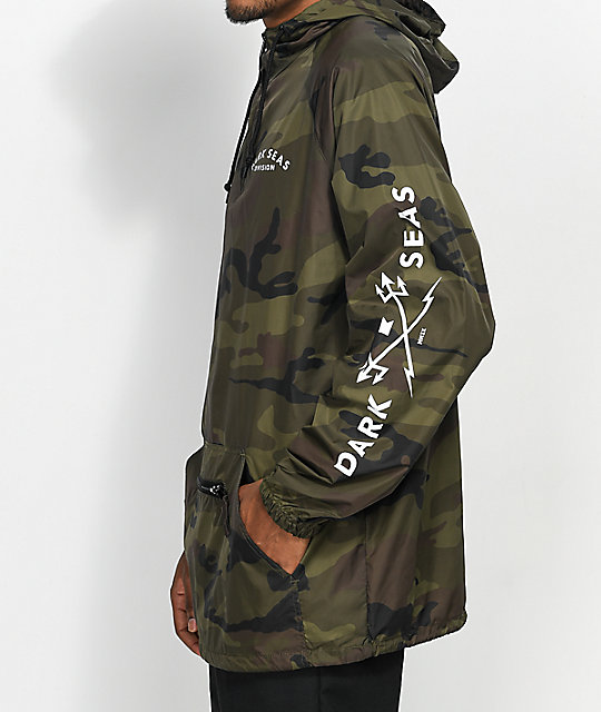 Dark Seas Headmaster Camo Anorak Jacket