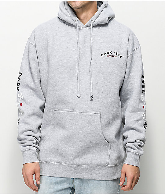 Dark Seas Headmaster Heather Grey Fleece Hoodie