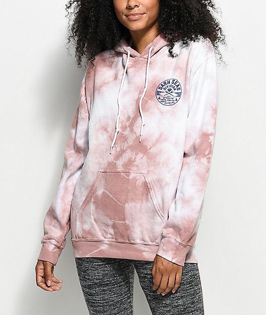 Dark Seas Imperial Mauve Crystal Wash Hoodie