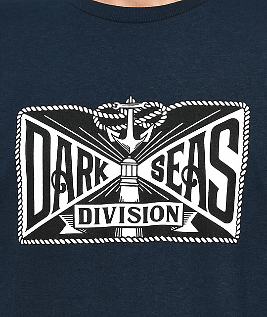 Dark Seas Lamp Light Navy T-Shirt