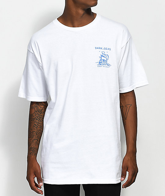 Dark Seas Long Travel White T-Shirt