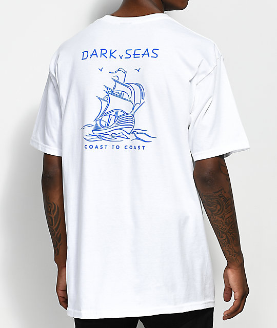 Dark Seas Long Travel camiseta blanca