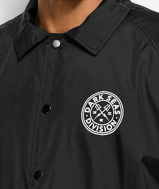 Dark Seas Navigator Black Coaches Jacket