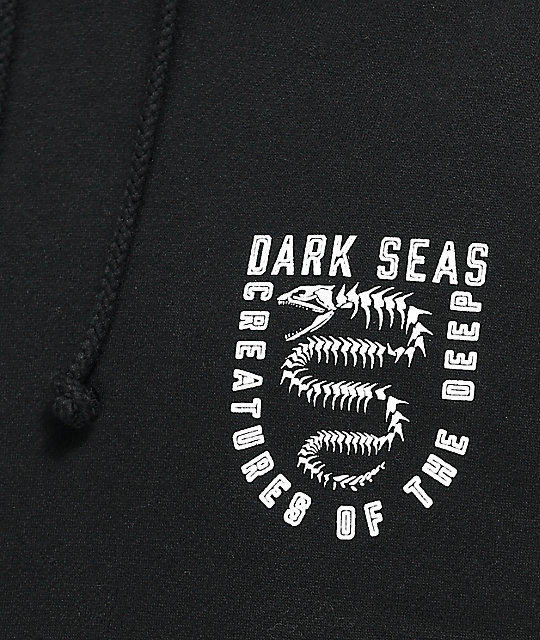 Dark Seas Spine Chiller Black Hoodie