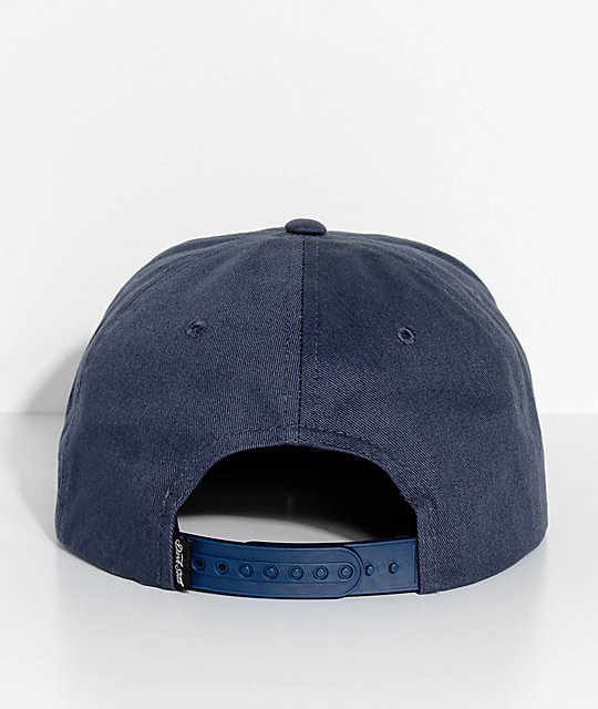 Dark Seas Trident Navy Snapback Hat