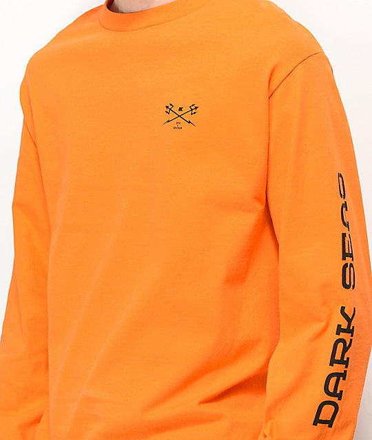 Dark Seas x Grundens Support Orange Long Sleeve T-Shirt