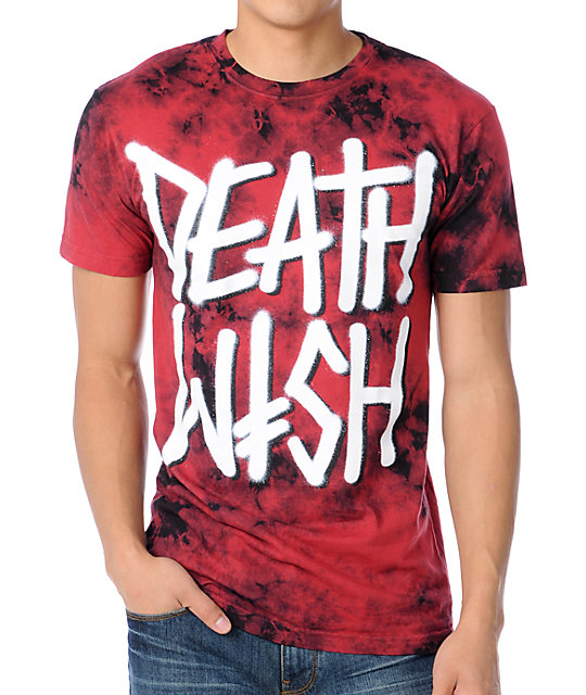 Deathwish Crystal Death Stack Red T-Shirt