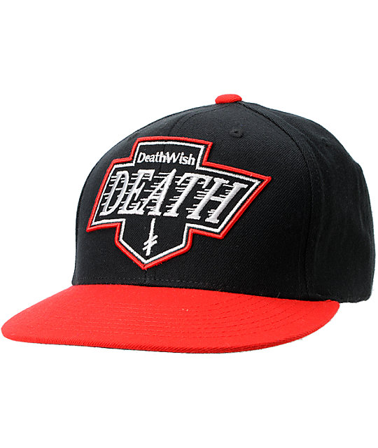 Deathwish Death Kings Black & Red Snapback Hat