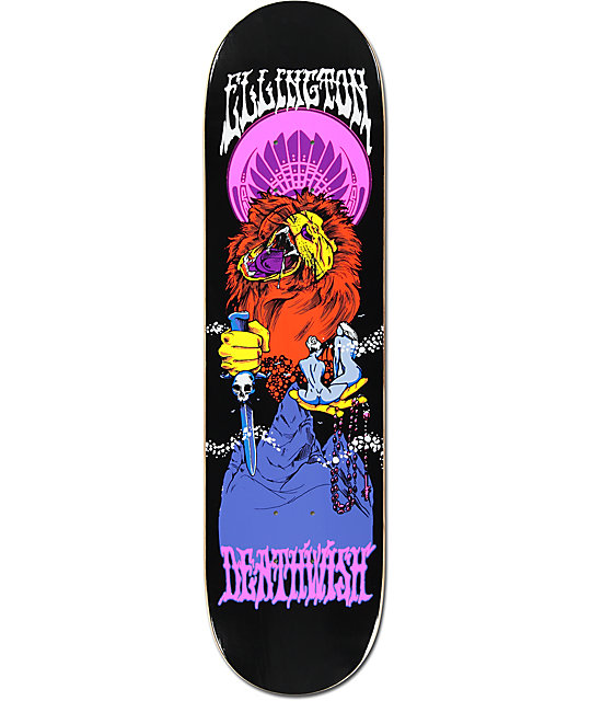"Deathwish Ellington Blacklight 8.125""  Skateboard Deck"