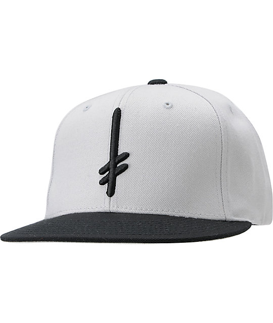 Deathwish Gang Logo Grey & Black Snapback Hat