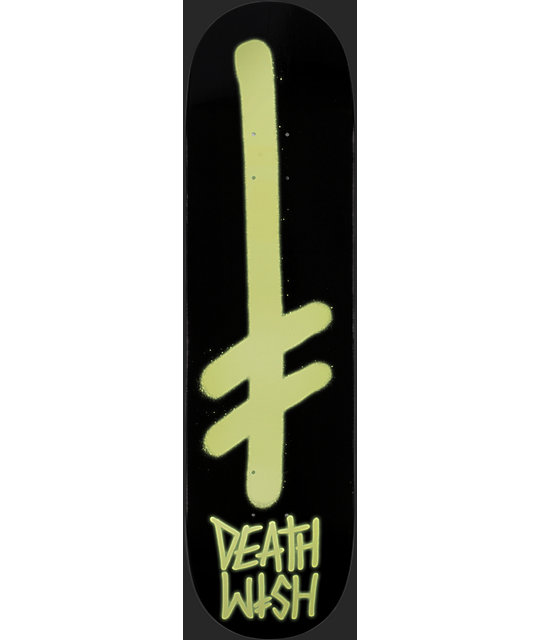 "Deathwish Team Glow 8.25""  Skateboard Deck"