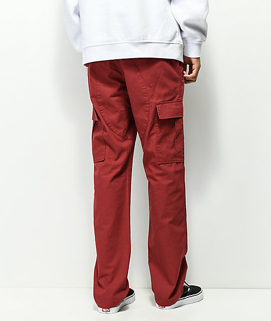 Deathworld Burgundy Cargo Pants