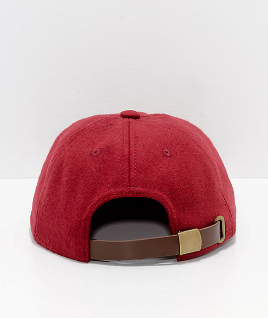 Deathworld Continental Ox Blood gorra strapback de fieltro en rojo