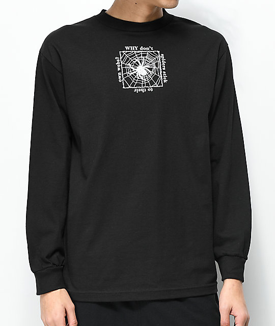 Deathworld Gossamer Black Long Sleeve T-Shirt