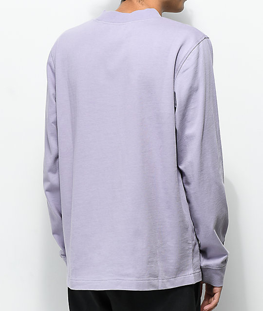 Deathworld Mauve Long Sleeve Pocket T-Shirt