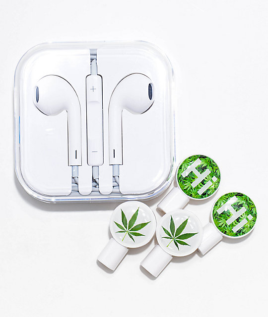Deka Slides Pot Leaf Hi Earbuds & Slide-On Graphics