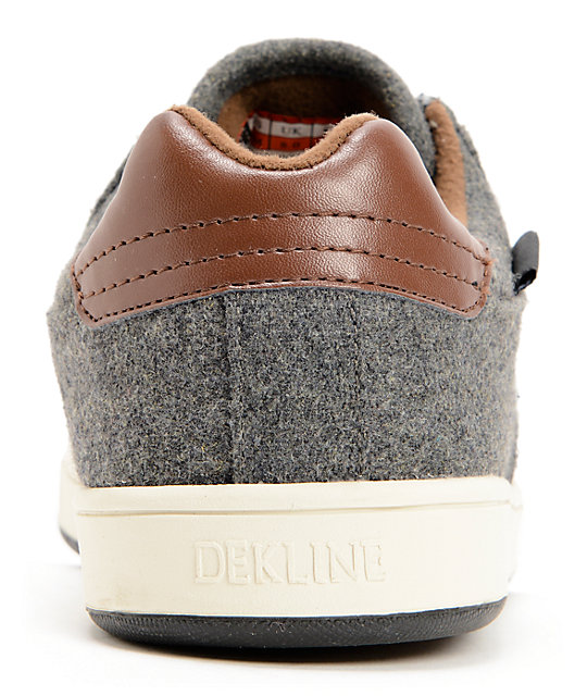 Dekline Dalton Pewter Wool & Leather Skate Shoes