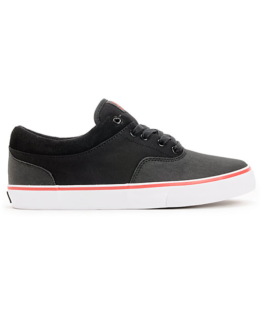 Dekline Keaton Black, Red, & White Skate Shoes