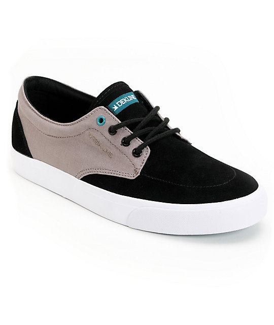 Dekline Mason Black & Charcoal Grey Shoes