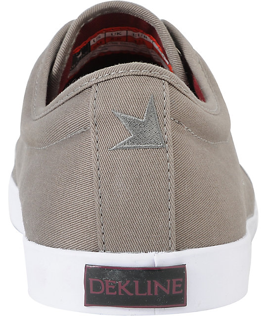 Dekline River Charcoal & Burgundy Twill Skate Shoes
