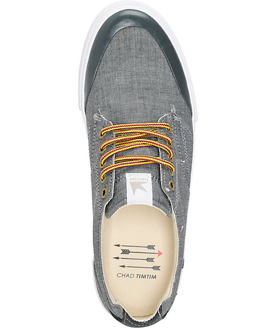 Dekline Tim Tim Pewter & Antique Chambray Skate Shoes
