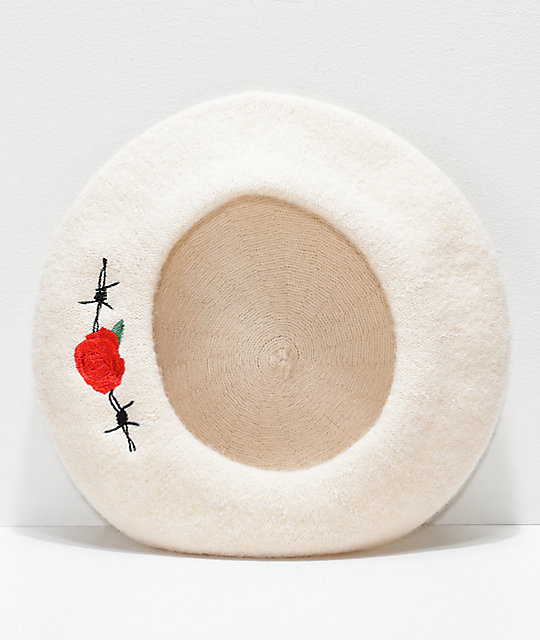 Desert Dreamer Barbed Wire Rose White Beret