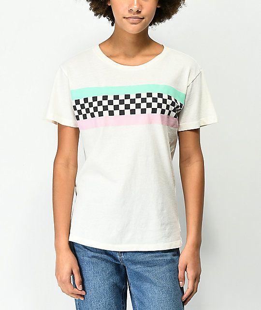 Desert Dreamer Checker Block Off White T-Shirt