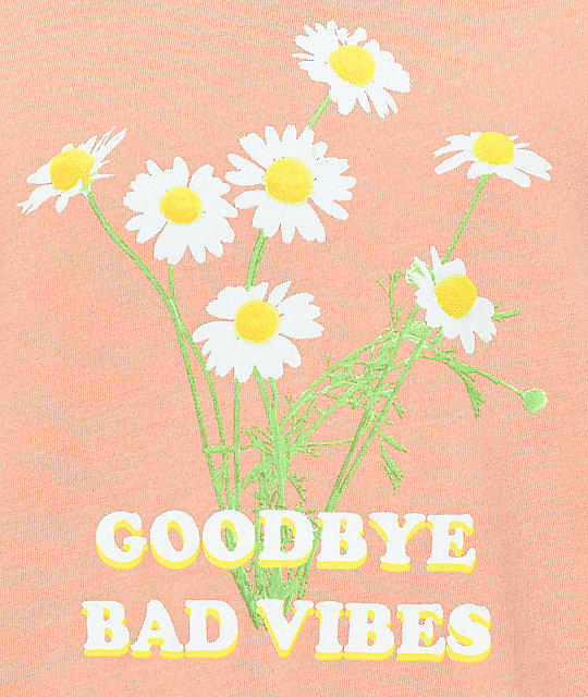 Desert Dreamer Goodbye Bad Vibes Peach T-Shirt