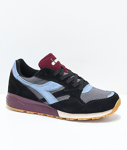 8258e547 Diadora N902 Black Shoes