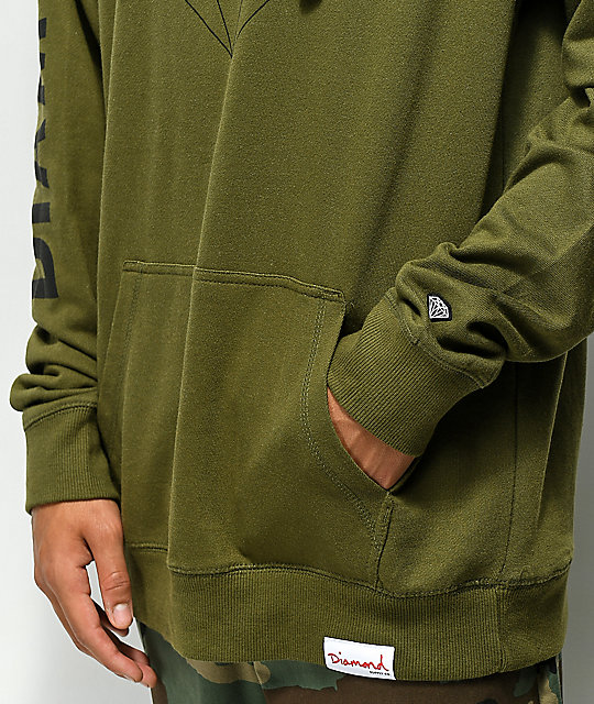 Diamond Brilliant Army Green Hoodie