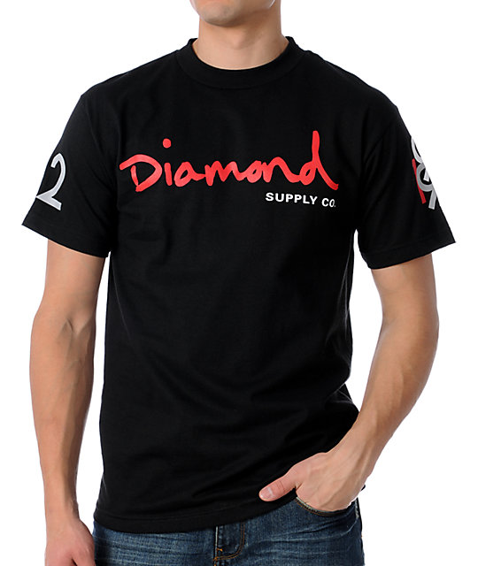 Diamond Supply Co 12 Years OG Black T-Shirt