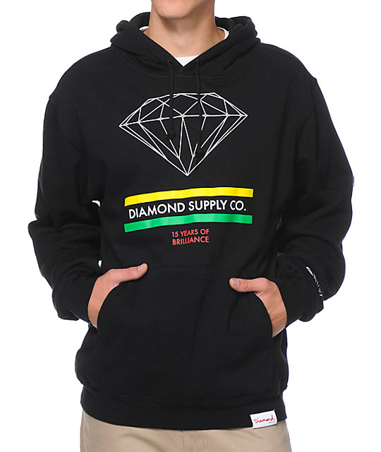 Diamond Supply Co 15 Years Brilliance Black Pullover Hoodie