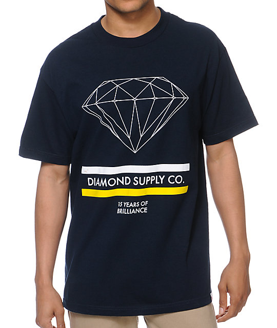 Diamond Supply Co 15 Years Brilliance Navy Blue T-Shirt