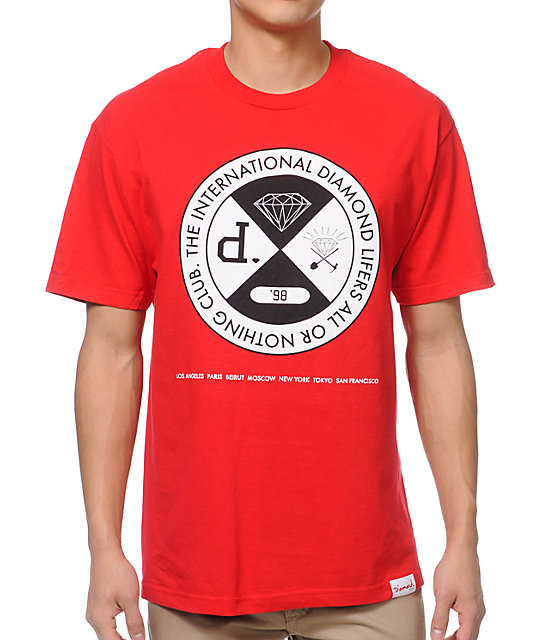 Diamond Supply Co All Or Nothing Red T-Shirt